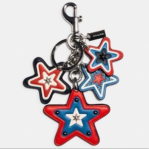 Coach Leather Cluster Star Bag Charm